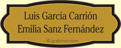 placa grabada en laton para puertas y oficinas la232