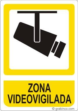 Placa se al zona videovigilada - Cartel zona videovigilada ...