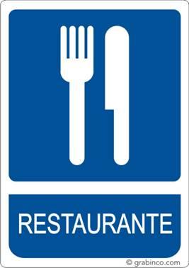 Placa Se Al Restaurante